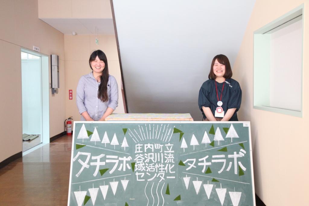 先輩隊員の伊計麻衣子さん(左)と西尾真生さん